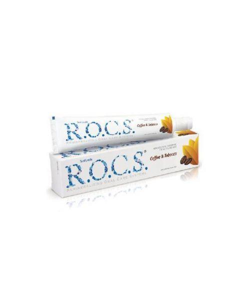 Dantų pasta nuo apnašų R.O.C.S Coffe & tobacco, 74 g