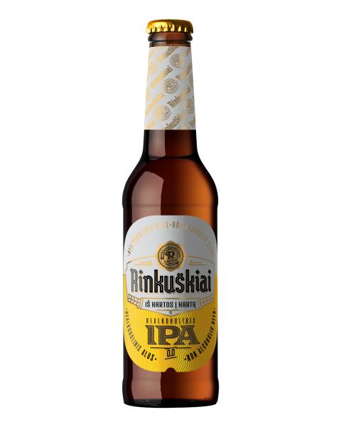 """Nealkoholinis alus """"RINKUŠKIAI IPA"""" 0,0%, 330ml"""