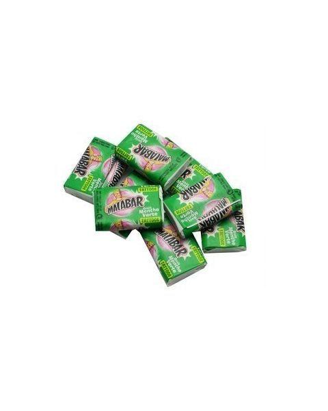 Kramtomoji guma MALABAR Menthe, su lipduku, 6.7 g