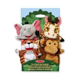 "Lėlės ant rankų MELISSA & DOUG ""Zoo Friends"", 4 vnt."