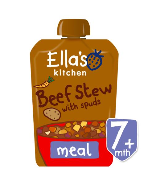 Ekologiškas jautienos troškinys su bulvėmis ELLA'S KITCHEN kūdikiams nuo 7 mėn.,  130 g