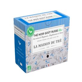 Ekologiška juodoji arbata LA MAISON DU THE Russian Earl Grey Black Tea, 15 maišelių