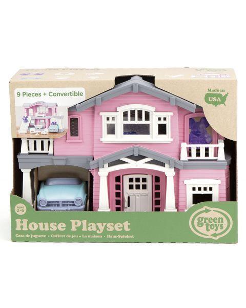 """Žaislų rinkinys """"Rožinis namas"""" GREEN TOYS ™ (10 dalių), 1 vnt. 2"""