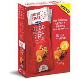 """Džiovintų vaisių ir riešutų mišinys NUTS TIME """"Good Training"""", 4x25g"""
