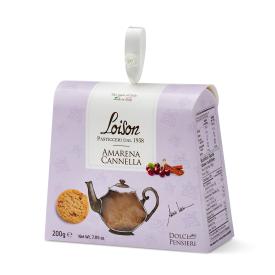 Itališki sausainiai LOISON su vyšniomis ir cinamonu, 200 g