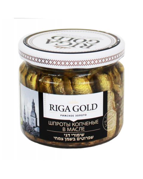 Šprotai aliejuje RIGA GOLD stikle, 250 g