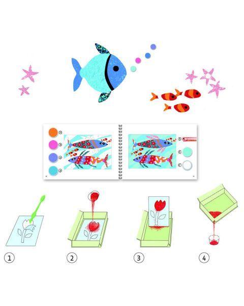 Rinkinys piešimui spalvotu smėliu DJECO Žuvų Vaivorykštė 6-11 metų vaikams (DJ08661) 3