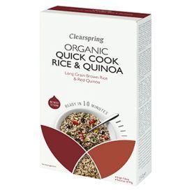 Ekologiški greito paruošimo ryžiai ir bolivinė balanda CLEARSPRING, 250g