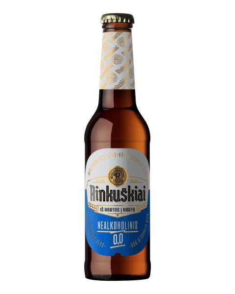 Nealkoholinis alus RINKUŠKIAI 0,0%, 330ml