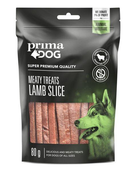 Skanėstas šunims PRIMA DOG ėrienos juostelės, 80 g