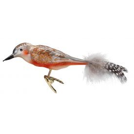 """Rankų darbo kalėdinis žaisliukas INGE-GLAS® """"Paukščiukas genys"""", 12 cm, 1 vnt."""