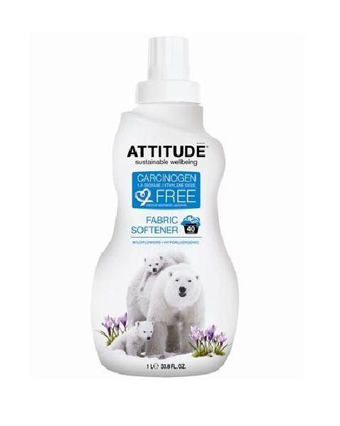 Ekologiškas koncentruotas skalbinių minkštiklis ATTITUDE lauko gėlių aromato, 1L