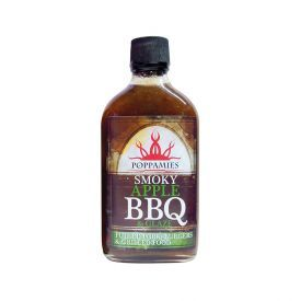 Padažas-marinatas Smoky Apple BBQ POPPAMIES, 410ml