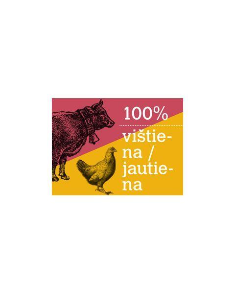 Visavertis vištienos ir jautienos žalias ėdalas šunims RAFUS, 500 g 2