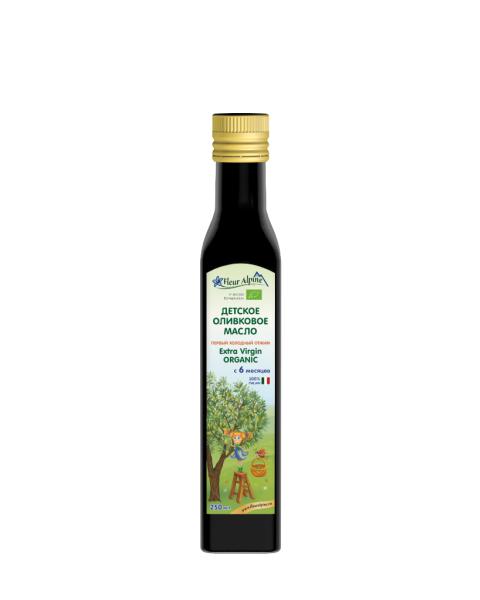 Ekologiškas pirmo spaudimo alyvuogių aliejus vaikams nuo 6 mėn. FLEUR ALPINE, 250 ml
