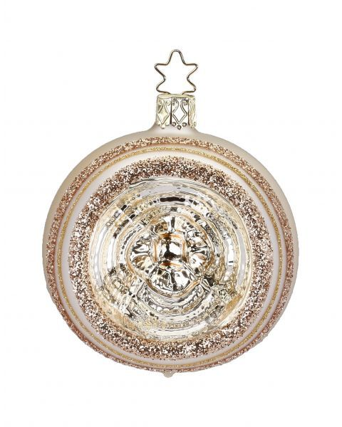 """Rankų darbo kalėdinis žaisliukas INGE-GLAS® """"Šampano atspindžiai - burbulas"""", 8 cm, 1 vnt."""