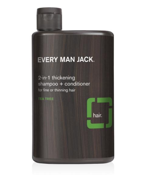 Plaukams apimties suteikiantis šampūnas EVERY MAN JACK su arbatmedžiu, 400 ml