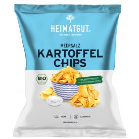Ekologiški bulvių traškučiai HEIMATGUT su jūros druska, 125 g