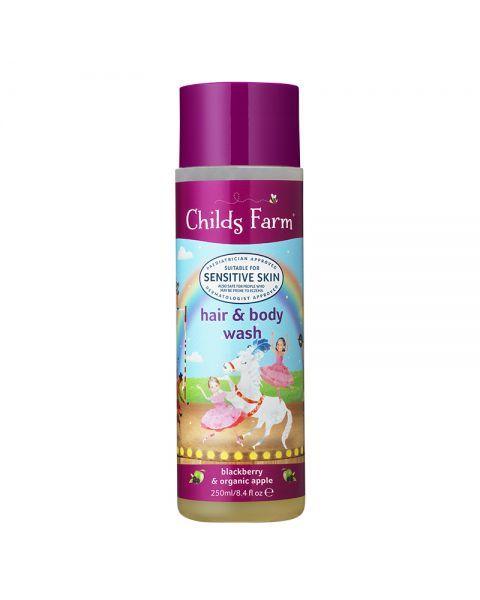Šampūnas ir kūno prausiklis vaikams CHILDS FARM su gervuogėmis ir obuoliais, 250 ml