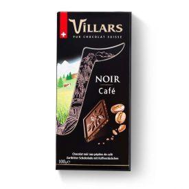 Juodasis šokoladas VILLARS su kava, 100g