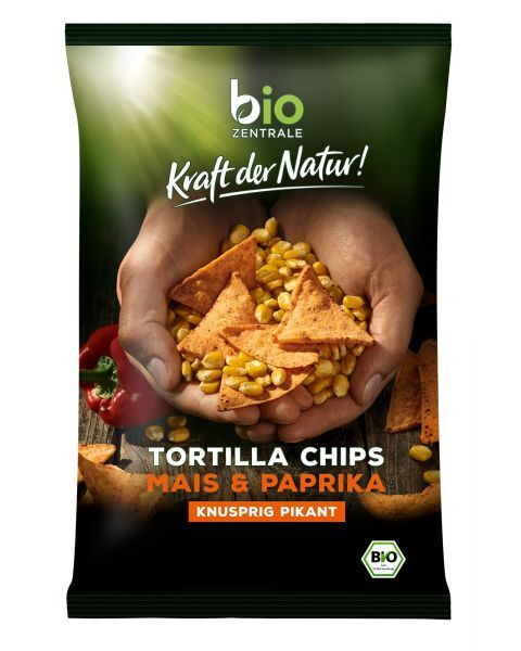 Ekologiški kukurūzų traškučiai BIOZENTRALE su paprika, 125g