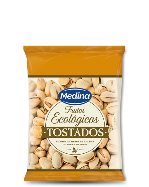 Ekologiškos skrudintos pistacijos MEDINA, 100g