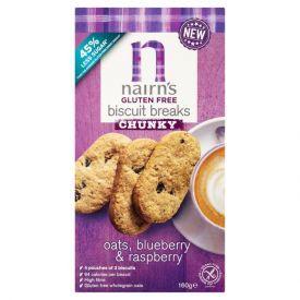 Avižiniai sausainiai NAIRN'S su mėlynėmis ir avietėmis, 160 g