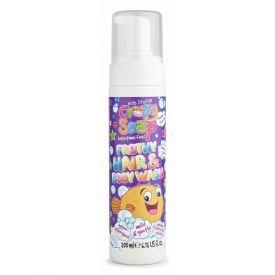Pašėlusios plaukų ir kūno prausimo putos KIDS STUFF Crazy Soap, 200 ml