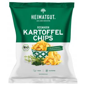 Ekologiški bulvių traškučiai HEIMATGUT su rozmarinu, 125 g