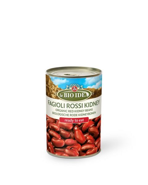 Ekologiškos konservuotos raudonos pupelės LA BIO IDEA, 400 g