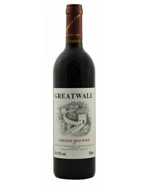 Raudonas vynas GREAT WALL 13%, 750ml