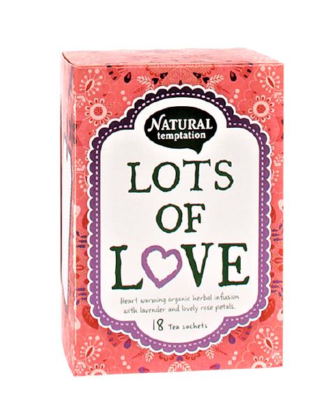Ekologiška arbata NATURAL TEMPTATION Lots Of Love, 18 maišelių