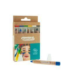 """Ekologiškas 6 makiažo pieštukų rinkinys NAMAKI """"Vaivorykštė"""", 1 vnt."""