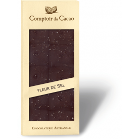 Juodasis šokoladas COMPTOIR du CACAO, su jūros druska, 90 g