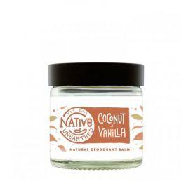 Natūralus dezodoruojantis balzamas NATIVE UNEARTHED su kokosu ir vanile, 60 ml