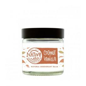 Natūralus dezodoruojantis balzamas NATIVE UNEARTHED Coconut & Vanilla, 60 ml