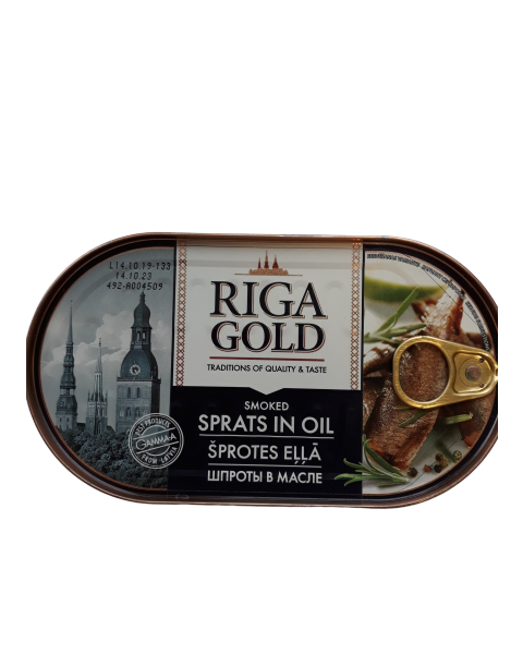Šprotai RIGA GOLD aliejuje, 190 g