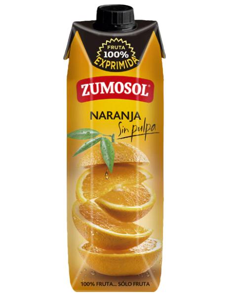 Apelsinų sultys ZUMOSOL 100%, 1L 2