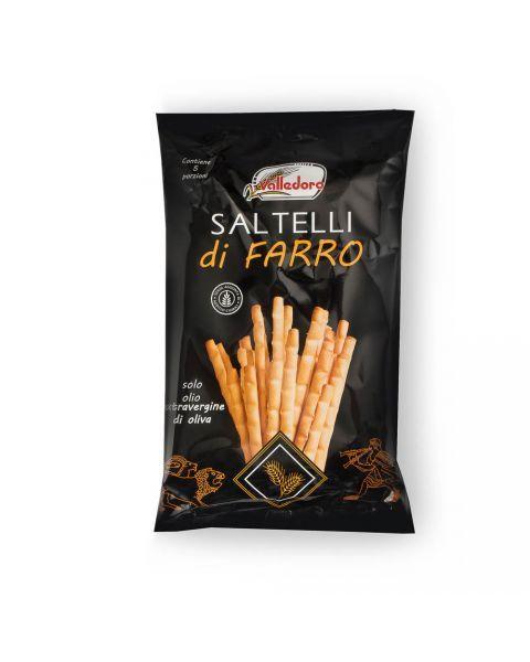Itališkos speltos miltų duonos lazdelės su druska VALLEDORO, 250g