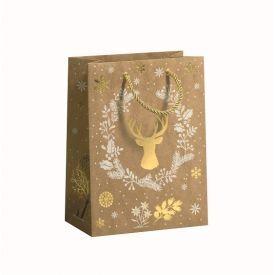 Dovanų maišelis ZOEWIE Golden Silhouette (17x9.2x22.5 cm), 1 vnt.