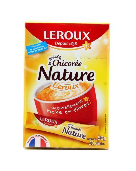 Tirpi cikorijos kava LEROUX Nature maišeliais, 20x2,5g