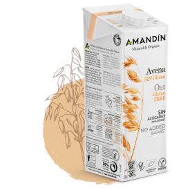 Ekologiškas avižų gėrimas AMANDIN be gliuteno, 1 l