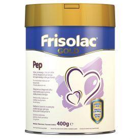 Specialios medicininės paskirties mišinys Frisolac gold PEP esant alergijai karvės pieno baltymams kūdikiams 0-12 mėn. FRIESLAND CAMPINA, 400 g