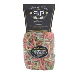 """Trijų spalvų makaronai Pasta&Pasta """"Scialatielli tricolore"""", 500 g"""