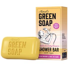Kietas dušo muilas MARCELS GREEN SOAP su vanile ir vyšnių žiedais, 150g