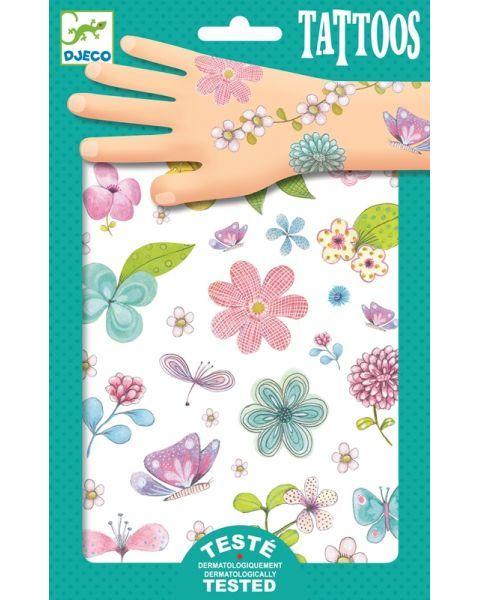 Tatuiruočių rinkinys Pievų gėlės DJECO vaikams nuo 3 metų (DJ09585)