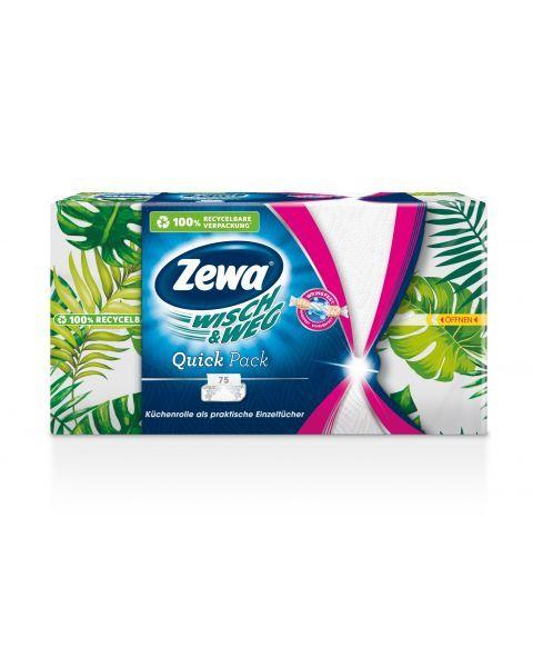 Popieriniai rankšluosčiai ZEWA Quick, 75 vnt.