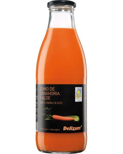 Ekologiškos morkų ir alavijų sultys DELIZUM, 750ml