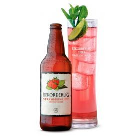 Sidras REKORDERLIG Strawberry-lime, 4,5%, 500ml