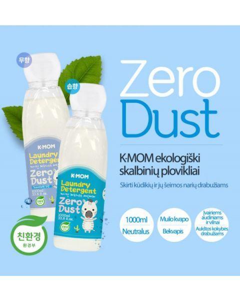 Ekologiškas skalbinių ploviklis K-MOM Zero Dust muilo kvapo, 1000ml. 2